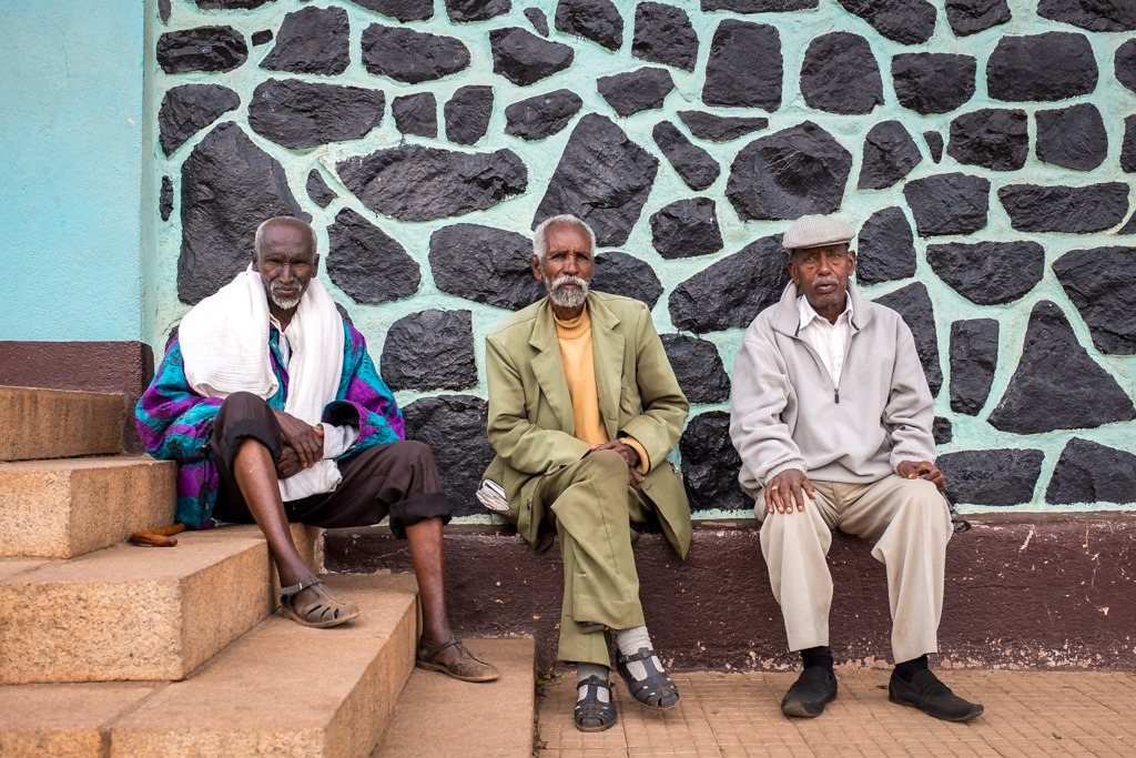 Local gents in asmara, eritrea