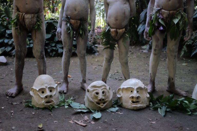 Mudmen of Papua New Guinea. visited on our mount hagen festival tour