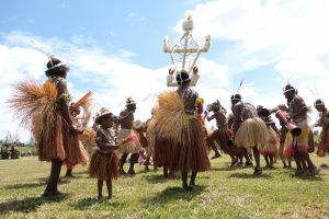 Getting ready for the Mount Hagen festival