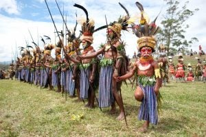 Tribe at the Mount Hagen festival, PNG