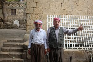 Yazidi men in Lalish, Iraq