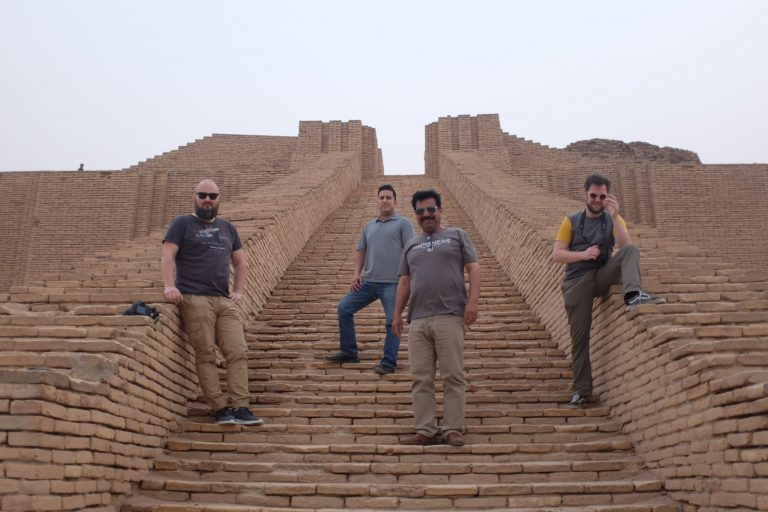 On our Iraq tour with rocky road travel