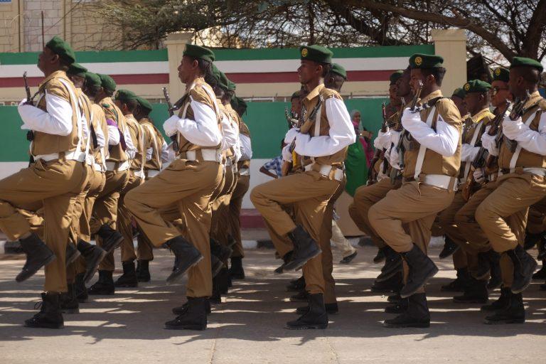 Military parade in Hargeisa, Somaliland