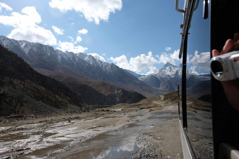 From our tour bus on the Karakoram Highway, Pakistan