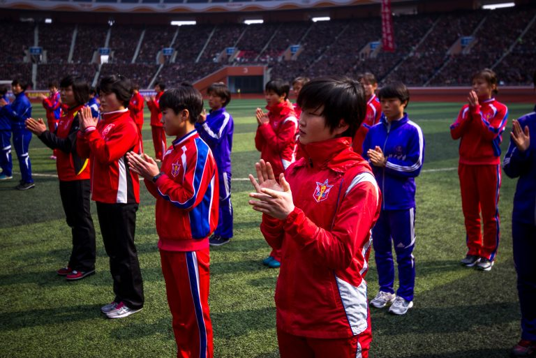 Pyongyang marathon tour opening ceremony, North Korea