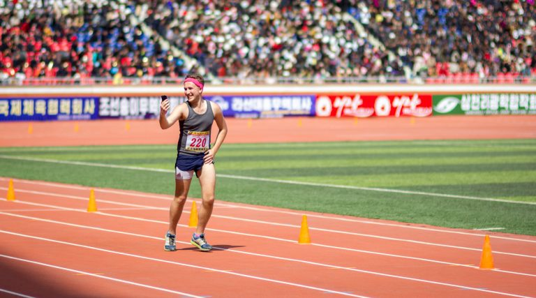 Foreigner finishes the Pyongyang Marathon in North Korea
