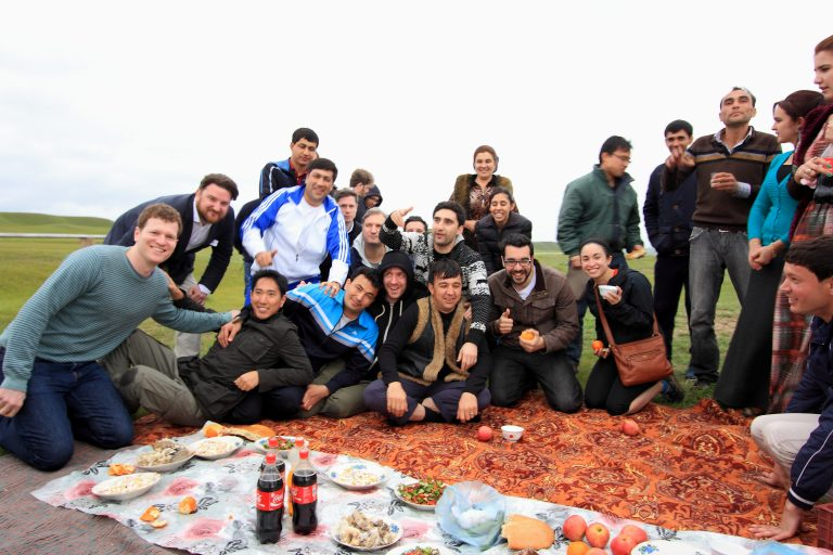 picnic on our Turkmenistan tour