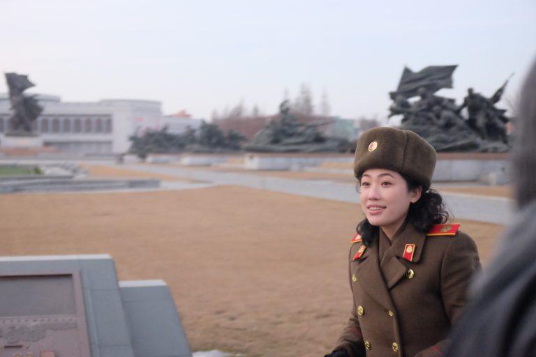 War museum guide in Pyongyang, North Korea