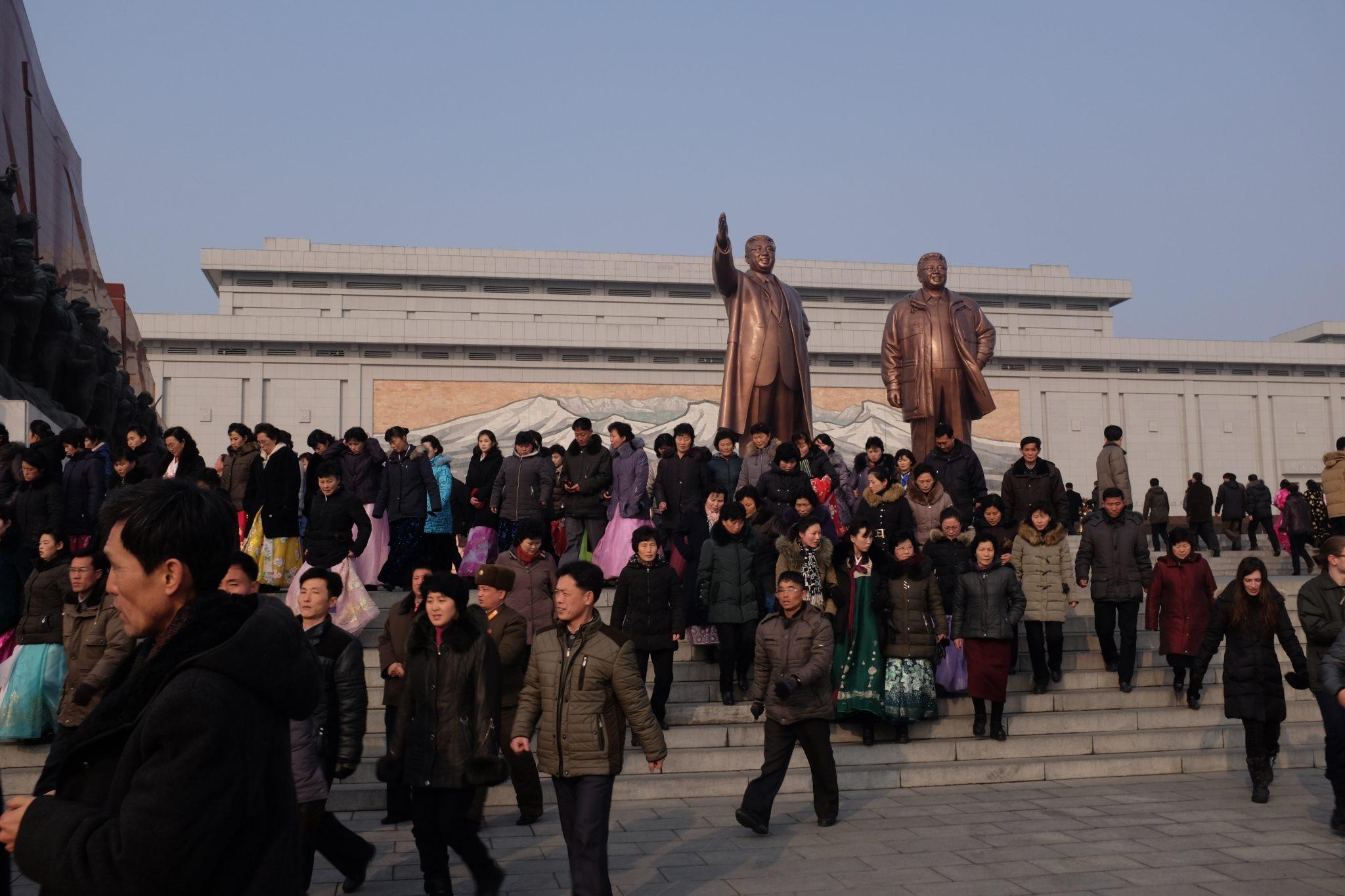 Grand monument in Pyongyang, North Korea.