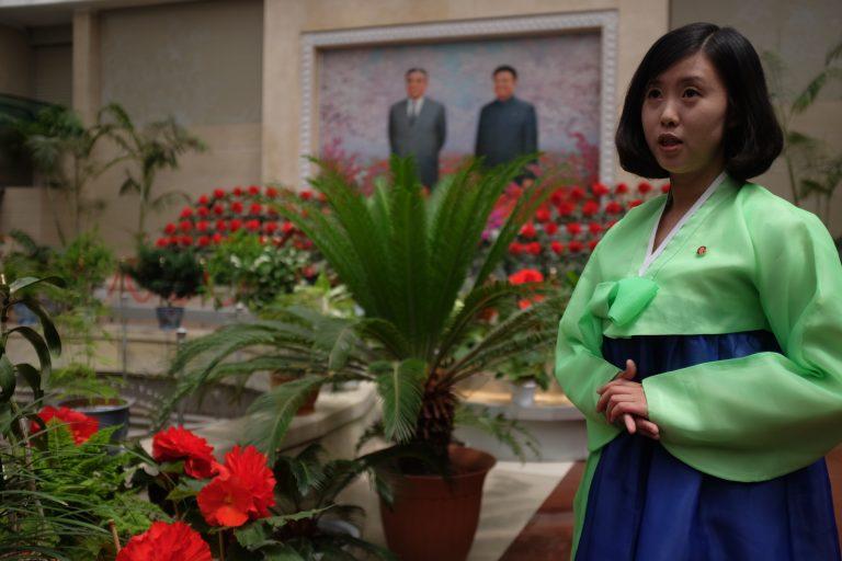 Kim jong ilia flower show in Pyongyang.