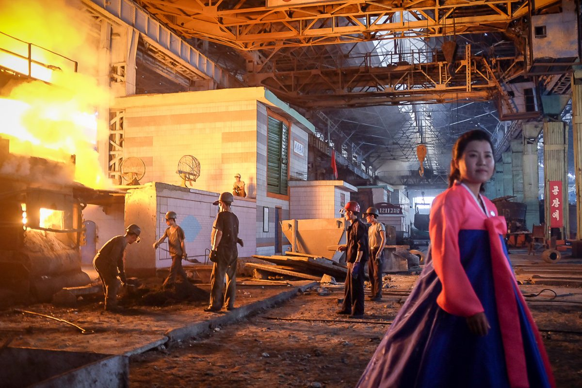 Touring the Chollima Steelworks in North Korea with Rocky Road Travel