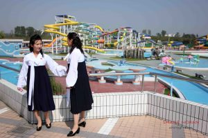 Students at Munsu Water Park