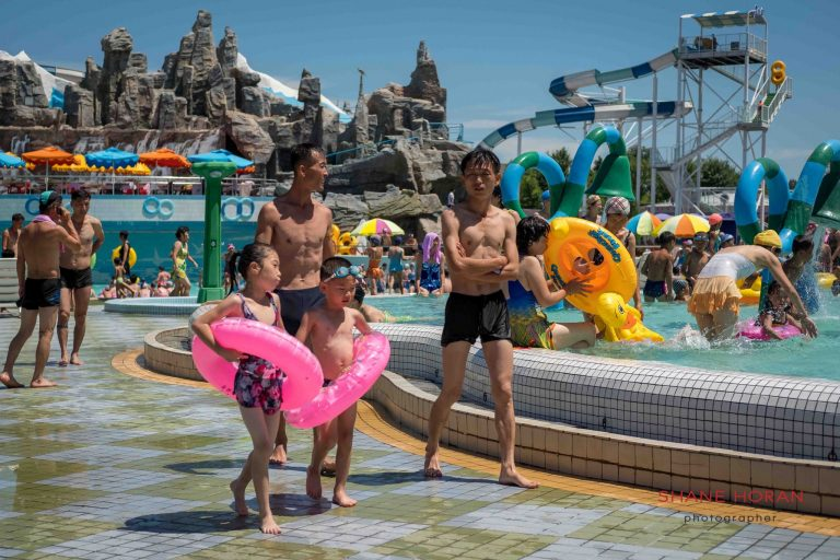 Summer at Munsu Water Park, Pyongyang, North Korea