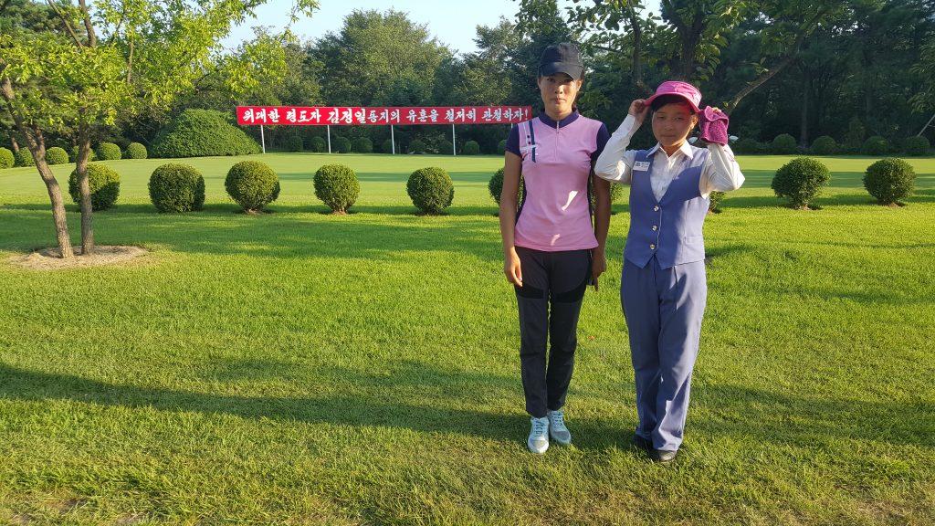 Pyongyang Golf Club caddies, North Korea