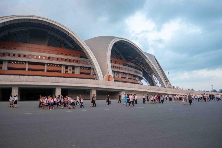 Exterior of Mayday Stadium, Pyongyang