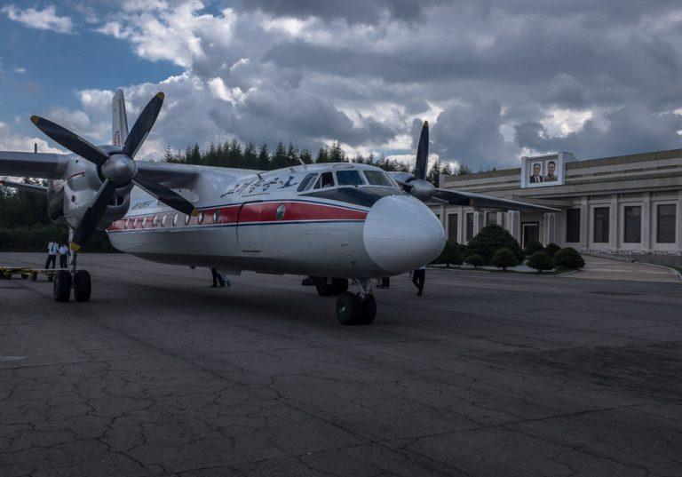 Old Antonov 44 in North Korea
