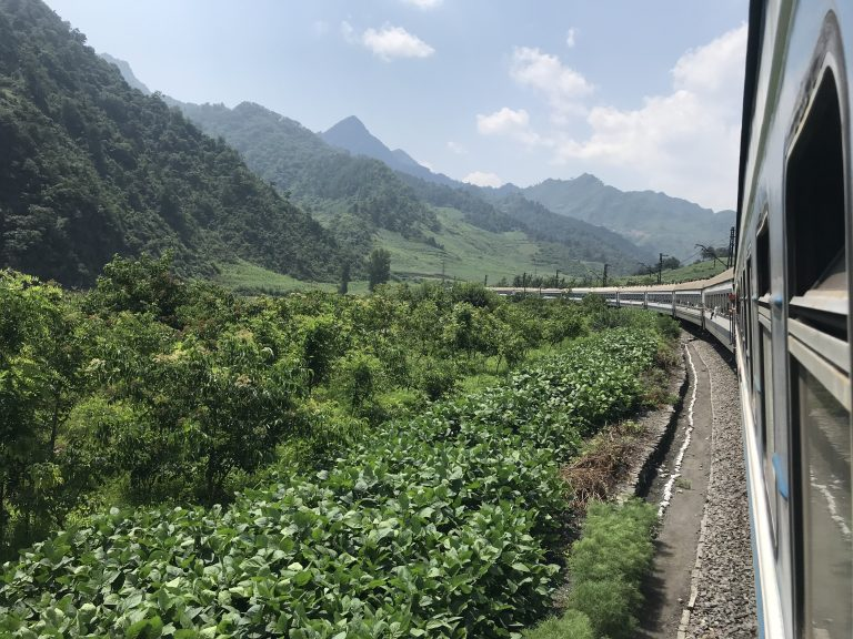 Scenery on the Berlin to Pyongyang by train tour