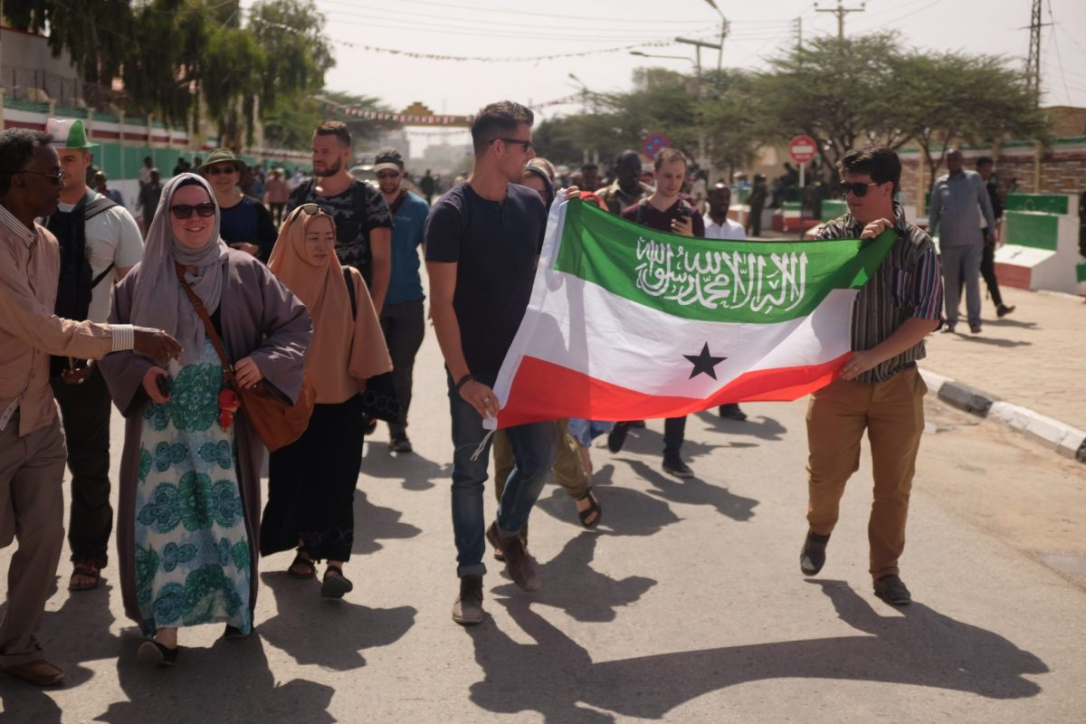 Our group participate in the Somaliland Independence day parade