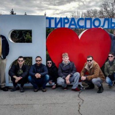 Transnistria tour group in Tiraspol