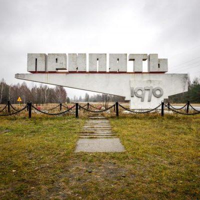 Entering Chernobyl.