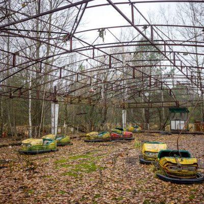 Bumper cars in Chernobyl