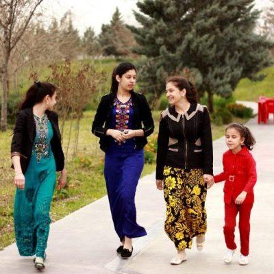 Turkmenistan ladies on our Turkmenistan tours